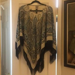 Chico's one size poncho NWOT S M L